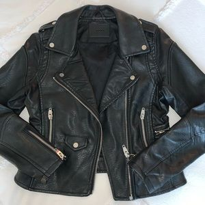 BLANKNYC Black Leather Motto Jacket